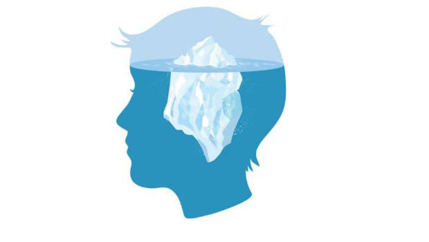 Freud buzdağı benzetmesi. Bilimç, bilinçdışı (bilinç altı).